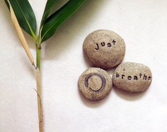 Zen Pebbles, Stoneware Clay, Mimimalist Home Decor-- Made to Order