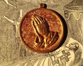 1pc SERENITY PRAYER CHARM Vintage Religious Medal