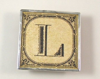 Letter L Initial Magnet