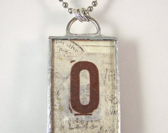 Letter O Reversible Pendant Necklace