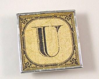 Letter U Initial Magnet