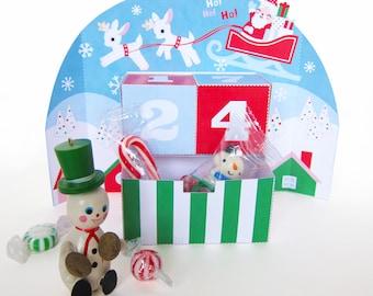 Christmas Advent Desktop Calendar Paper Craft