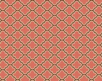 True Colors by Joel Dewberry  / Lodge Lattice in Salmon / 1 yard Cotton Quilt/Apparel Fabric