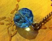 Simply elegant blue crystal Filofax Bling Planner Charm