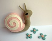 Tiny Snail in Pink