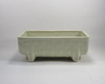 Vintage Light Green Planter - Retro Ceramic Green Planter