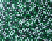 Modern Green Painting ORIGINAL Optical Squares Acrylic On Canvas Contemporary Decor 18x24 Wall Art