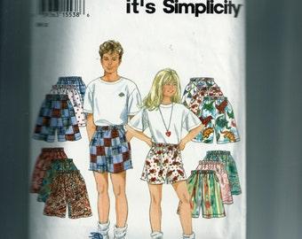 Simplicity Children's Shorts Pattern 9052