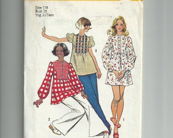 Simplicity Young Junior/Teens Mini-Dress or Tunic Pattern 5629