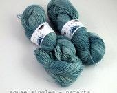 netarts - aquae singles, fingering weight sock yarn (dyed to order)