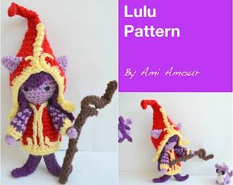 Lulu Amigurumi Pattern League of Legends Crochet