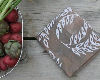 warm gray wheat towel pure linen