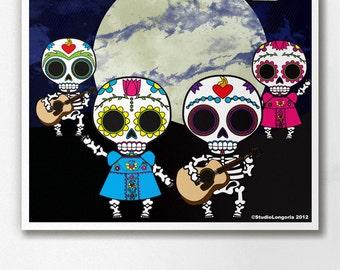 Dia De Los Muertos Pary Wall Art Print