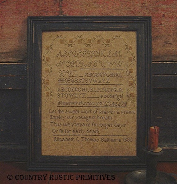 Primitive Prayer And Praise Sampler Cross Stitch E Pattern PDF