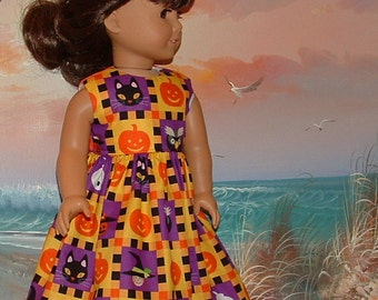 """Fits Like American Girl Halloween Dress 18"""" Doll with Trick or Treat Bag"""
