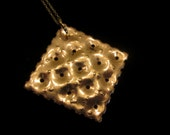 Brass Cracker Necklace - Square