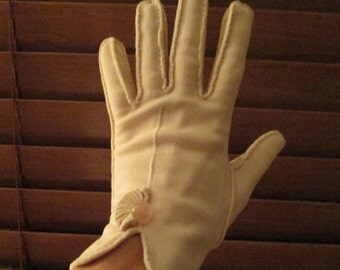 Vintage Pale Pink Poet Gloves - Double Woven, Ghostly, Haunted, Unique, Performance Attire