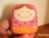 dominika matryoshka doll- normal size-- handproduced--(ship in 3 days)