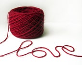 100 Percent Wool DK/Light Worsted Weight Recycled Yarn - 223 yards - 216 gr /7.6 oz - Cherry red