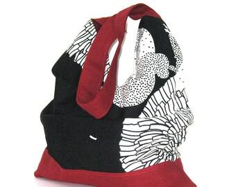 Hobo  handbag shoulder bag , Large handmade cotton slouch tote bag , Vegan slouch hobo bag , Hobo purse , slouch bag ,hobo handbag