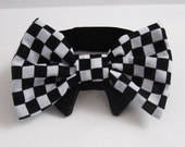 Bow tie for dogs or cats Nascar checks Indy 500