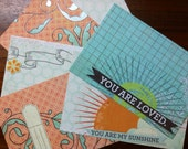 set of 6 postcards you are my sunshine & you are loved