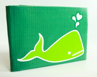Whale duct tape wallet - by jDUCT