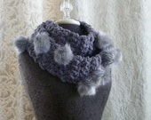 20 % OFF Today Only - Limitied Supply - Snow Bunny Loop Scarf in smoky grey