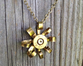 Bullet Casing Necklace - Curled