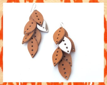 Natural Punched Leather Cascades