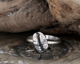 COFFEE BEAN Sterling Silver Ring Size 8