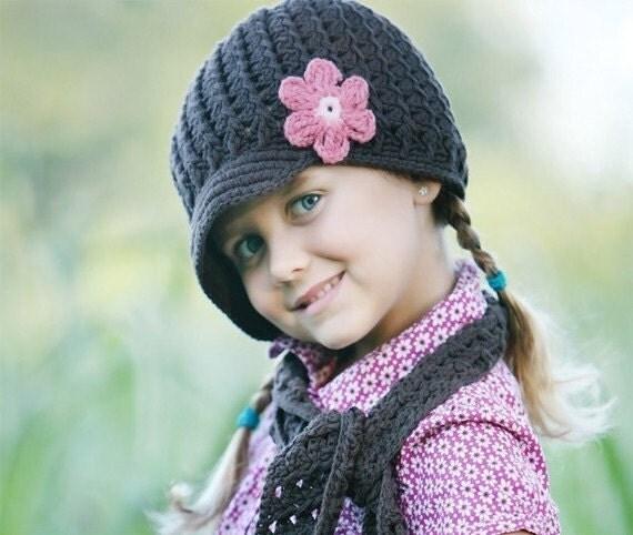 Crochet Baby Hat, kids hat, crochet newsboy hat, hat for girls, newborn hat, 1-2T, READY TO Ship