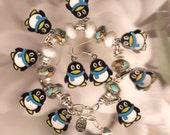 Penguin Bracelet European theme  Bracelet with georgeous accent beads very nice statement piece