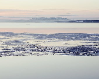 Thin Ice - Arctic Landscape Photography, Winter Prints, Iceland, Nature Print, Pastel Wall Art, Winter, Fine Art Photography