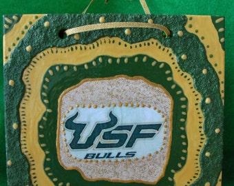 GO USF Ceramic Tile Handmade - University of South Florida