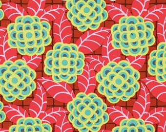 End of Bolt - Amy Butler Fabric, Cameo Collection, Tea Rose Scarlet - 100% Cotton - 1 Yard + 15 InchesFabric
