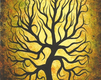 TREE, Original fine art, Acrylic painting by Jordanka Yaretz, UNICEF Artist