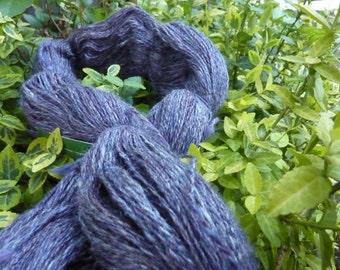 CONCORD - 1,034 yards 2 ply handspun merino silk fingering weight yarn