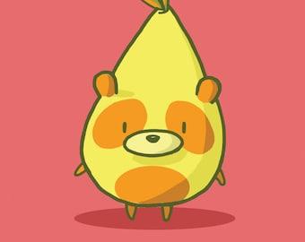 Panda Pear Greeting Card