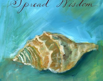 Dreamy Shells III: Spread Wisdom Conch Print