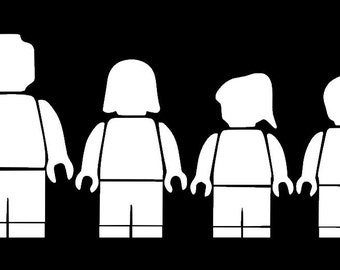 Mini Figure Family Vinyl Decal (Car, Laptop, Tablet, Window)