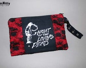 Night Of The Living Dead Lace Horror Zombie Wristlet Zipper Pouch
