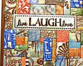 Live Laugh Love Polymer Clay Tile Mosiac LMM0016-15