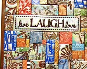 Live Laugh Love Polymer Clay Tile Mosiac LMM0016-15