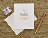 I am not afraid of storms, for I'm learning how to sail my ship - Louisa May Alcott quote - letterpress card