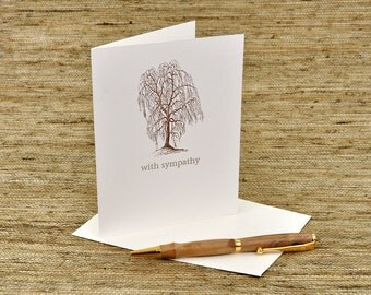 with sympathy - letterpress card