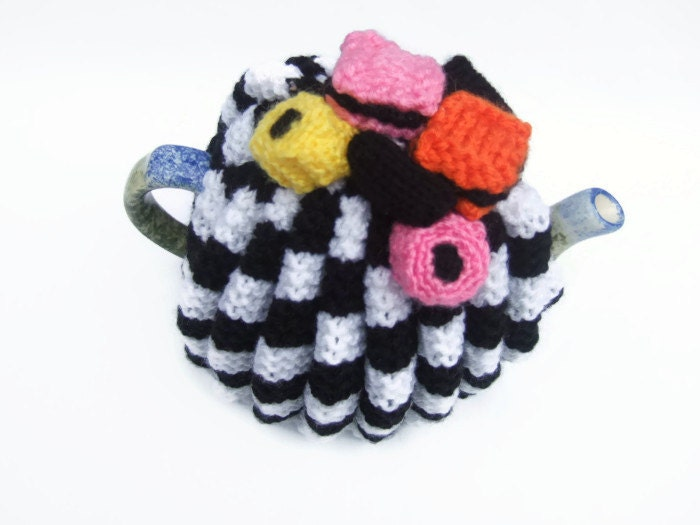 2 Cup Tea Cosy Knitting Pattern : tea cozy cosie knitting pattern for allsort cosie