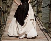 Natural Linen Long Renaissance Skirt Halloween Costume