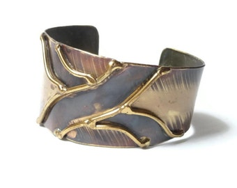 1970s Brass Cuff Bracelet
