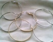 Artist Destash - 2.75 Inch Blank Earring Hoops in 3 Finishes - Choose One